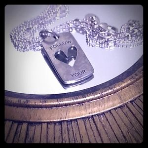 Origami owl tag charm necklace